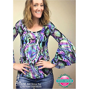 Pattern Emporium Allure Bell Sleeve Top Sewing Pattern