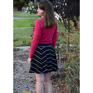 ab6b9086595a9 Laela Jeyne Madeline Ballet Wrap Sweater Sewing Pattern - Girl Charlee