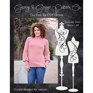 George and Ginger Posh Top Sewing Pattern