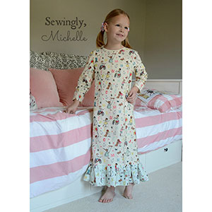 Seamingly Smitten Dream Catcher Nightgown for Girls Sewing Pattern