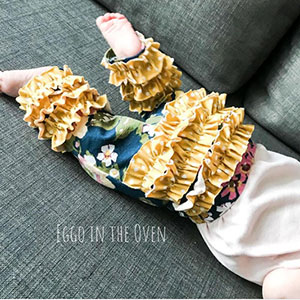 Mamma Can Do It Baby Rosies Ruffled Leggings Sewing Pattern