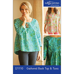 Indygo Junction Gathered Back Top and Tunic Sewing Pattern