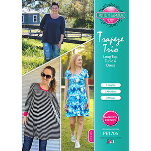 Pattern Emporium Trapeze Trio Tunic, Top, and Dress Sewing Pattern