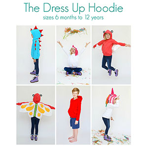 Mouse House Creations Dress Up Hoodie Sewing Pattern