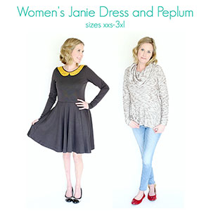 Mouse House Creations Women\'s Janie Dress and Peplum Sewing Pattern