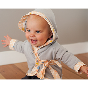Sew Knit Love Hooded Baby Kimono Sewing Pattern
