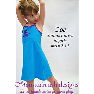 Mountain Ash Designs Zoe Sewing Pattern