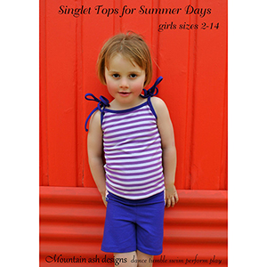 Mountain Ash Designs Singlet Top Sewing Pattern