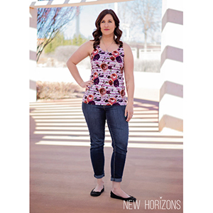 New Horizons Designs Marbella Tank Sewing Pattern