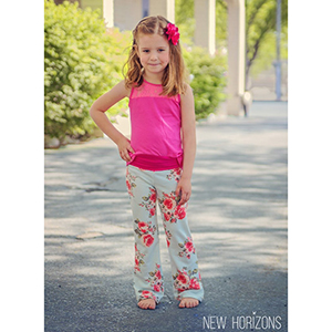 New Horizons Designs Portlander Pants for Girls Sewing Pattern