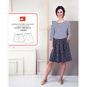 Liesl and Co Soho Shorts and Skirt Sewing Pattern