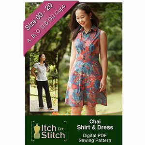 Itch to Stitch Chai Shirt and Dress Sewing Pattern