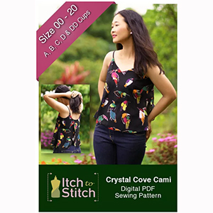 Itch to Stitch Crystal Cove Cami Sewing Pattern