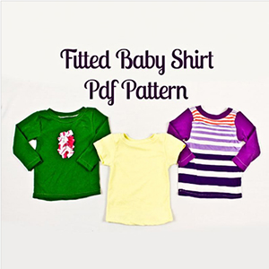 Mamma Can Do It Fitted Baby Shirt Sewing Pattern