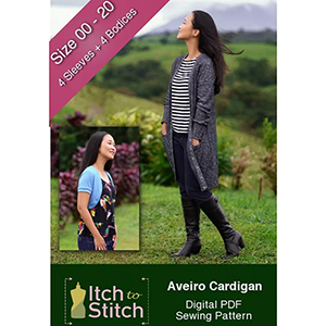 Itch to Stitch Aveiro Cardigan Sewing Pattern