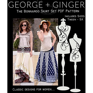 George and Ginger Bonnaroo Skirt Sewing Pattern