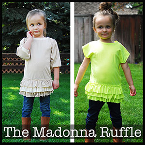 Shwin Designs Madonna Ruffle Top Sewing Pattern