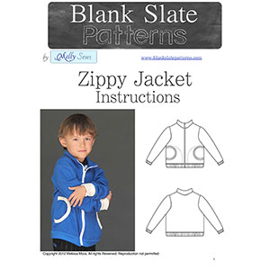 Blank Slate Patterns Zippy Jacket Sewing Pattern