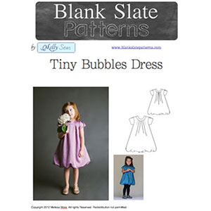 Blank Slate Patterns Tiny Bubbles Dress Sewing Pattern