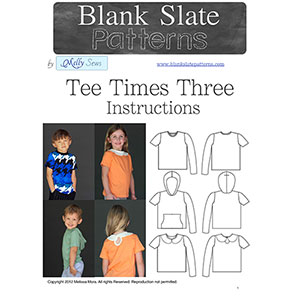 Blank Slate Patterns Tee Times Three Sewing Pattern