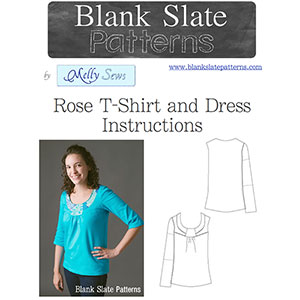 Blank Slate Patterns Rose T-Shirt and Dress Sewing Pattern