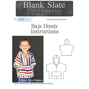 Blank Slate Patterns Baja Hoody Sewing Pattern