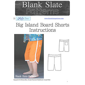 Blank Slate Patterns Big Island Board Shorts Sewing Pattern