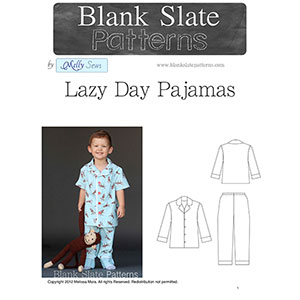 Blank Slate Patterns Lazy Day Pajamas Sewing Pattern