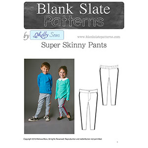 Blank Slate Patterns Super Skinny Pants Sewing Pattern