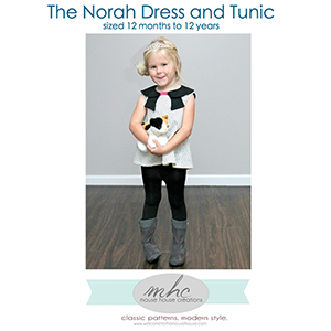 Mouse House Creations The Norah Dress and Tunic Sewing Pattern