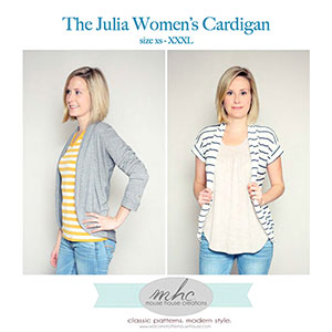Mouse House Creations The Julia Women\'s Cardigan Sewing Pattern