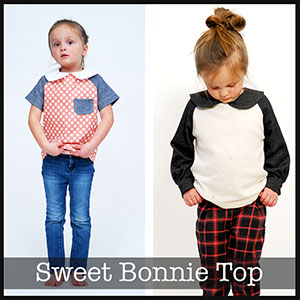 Shwin Designs The Sweet Bonnie Top Sewing Pattern