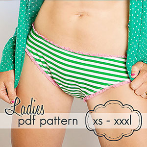 Jocole Ladies Basic Brief Bottoms Sewing Pattern