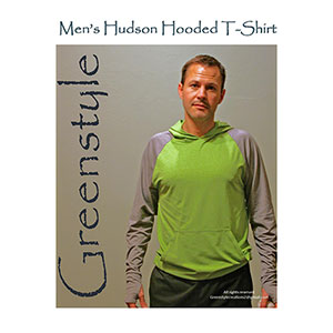 Greenstyle Men\'s Hudson Hooded T-Shirt Sewing Pattern