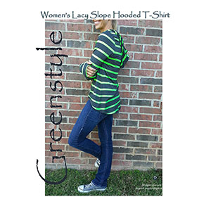 Greenstyle Women\'s Lacy Slope Hooded T-Shirt Sewing Pattern