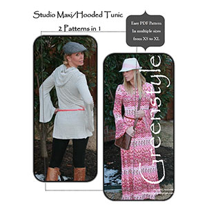 Greenstyle Studio Maxi Dress and Tunic Sewing Pattern