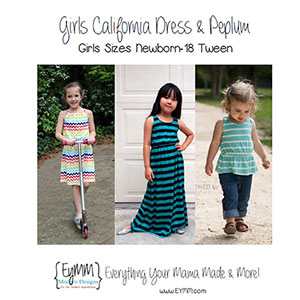 EYMM Girl\'s California Dress & Peplum Sewing Pattern