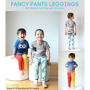 Titchy Threads Fancy Pants Leggings Sewing Pattern