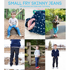 Titchy Threads Small Fry Skinny Jeans Large Sizes Sewing Pattern