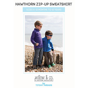 Titchy Threads Hawthorn Zip-Up Sweatshirt Sewing Pattern