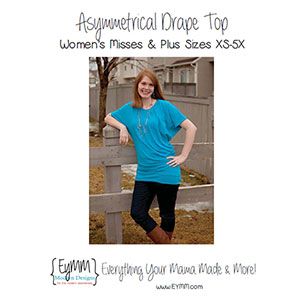 EYMM Women\'s Asymmetrical Drape Top Sewing Pattern