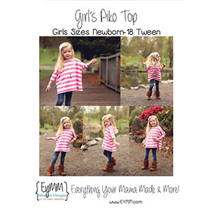EYMM Girl\'s Piko Top Sewing Pattern