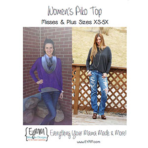 eymm women s piko top sewing pattern girl charlee