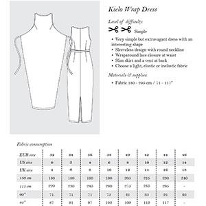 Named Clothing Kielo Wrap Dress Sewing Pattern Girl Charlee