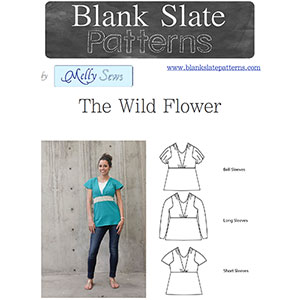 Blank Slate Patterns Wild Flower Top Sewing Pattern