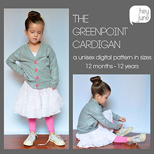 Hey June Greenpoint Cardigan Sewing Pattern