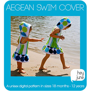 Hey June Aegean Swim Cover Sewing Pattern