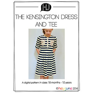 Hey June Kensington Dress and Tee Sewing Pattern