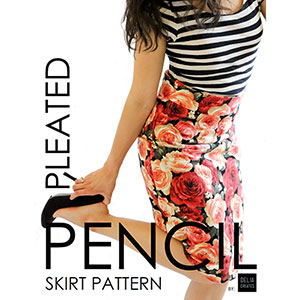 Delia Creates Pleated Pencil Skirt Sewing Pattern