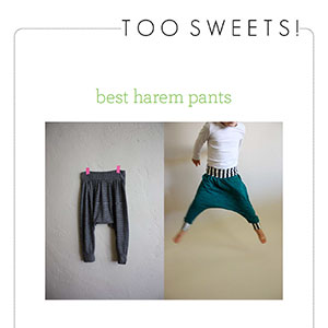 Too Sweets Best Harem Pants Sewing Pattern